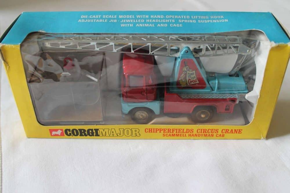 Corgi Toys 1144 Chipperfields Circus Crane Scammell Handyman Cab