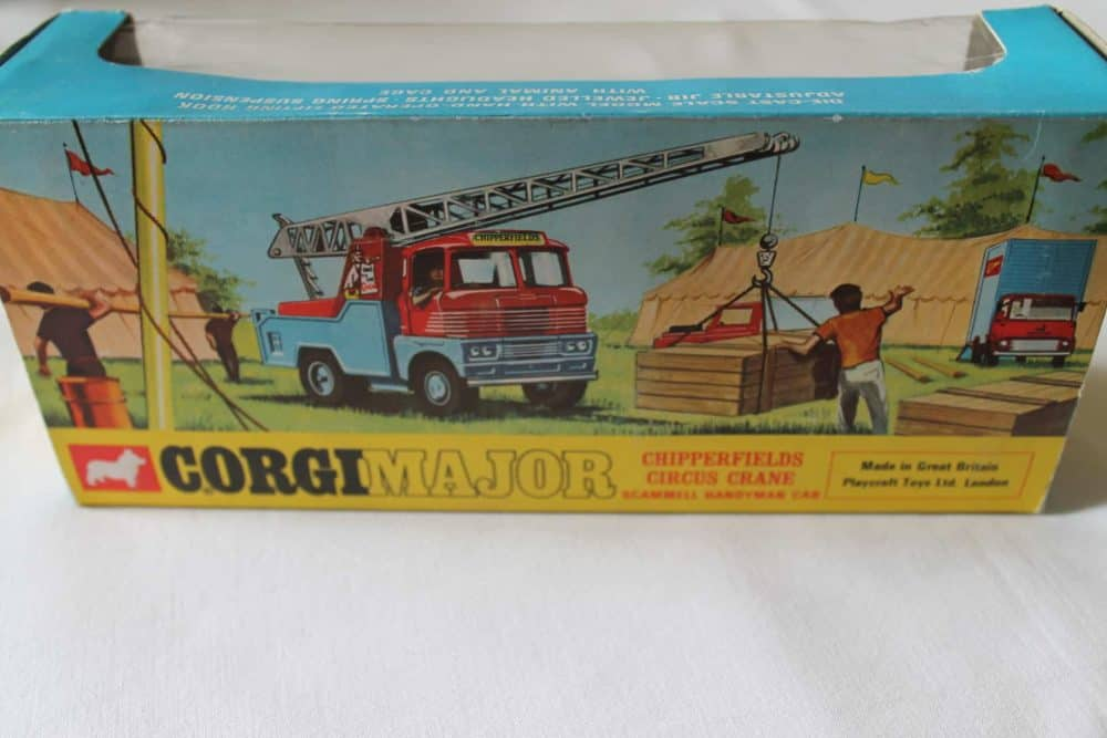 Corgi Toys 1144 Chipperfields Circus Crane Scammell Handyman Cab-boxback