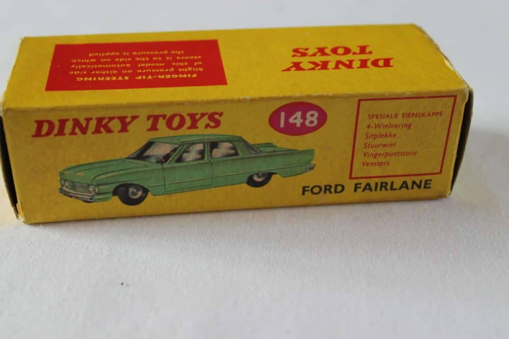 Dinky Toys 148 Ford Fairlane. Rare South African Box Only