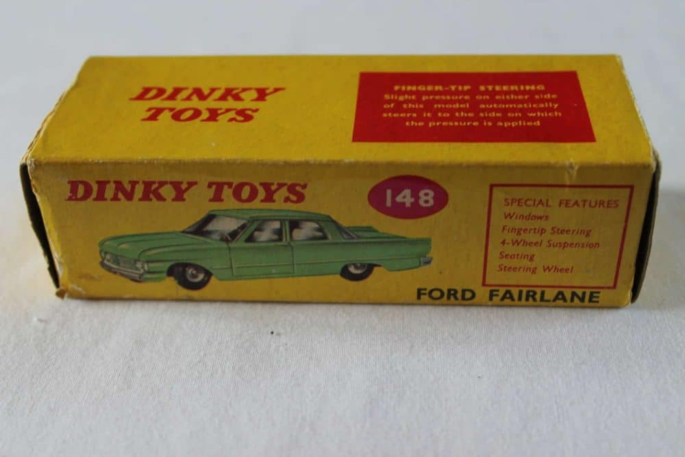 Dinky Toys 148 Ford Fairlane. Rare South African Box Only-box2