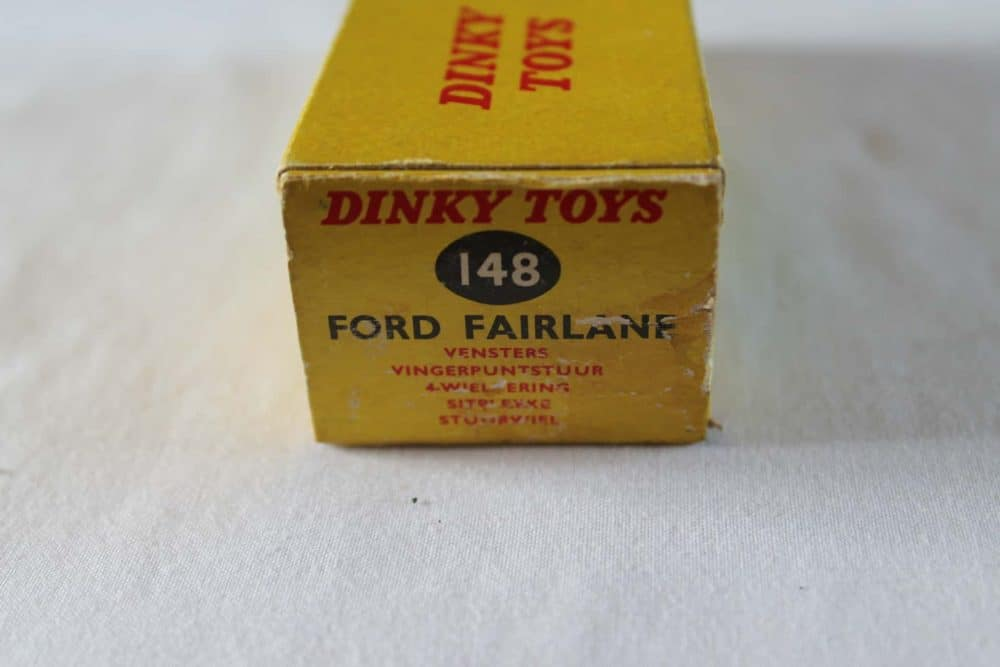Dinky Toys 148 Ford Fairlane. Rare South African Box Only-box3
