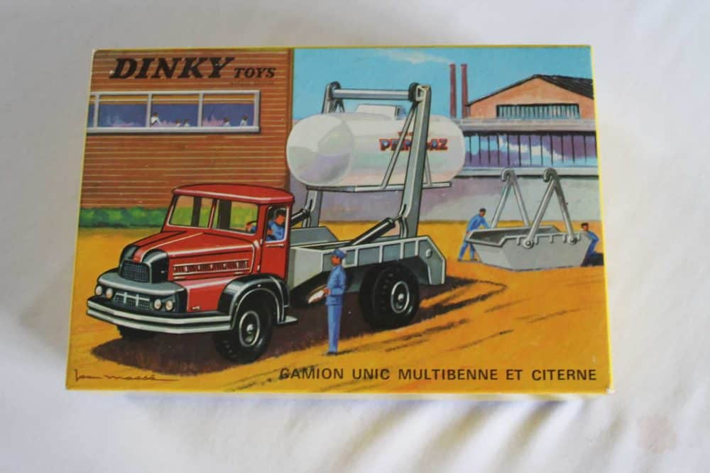 French Dinky 805 Unic Multi Skip & Gas Tanker
