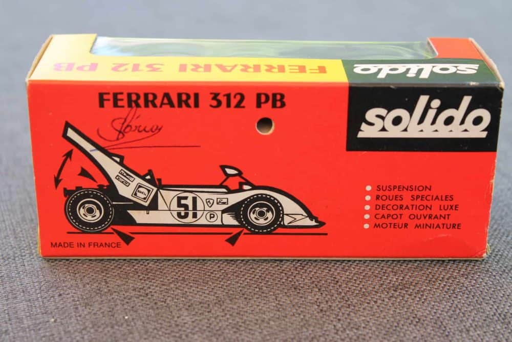 Solido Toys 194 Ferrari 312 PB-boxback