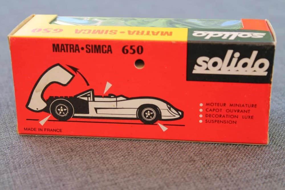 Solido Toys `78 Matra Simca 650-boxback