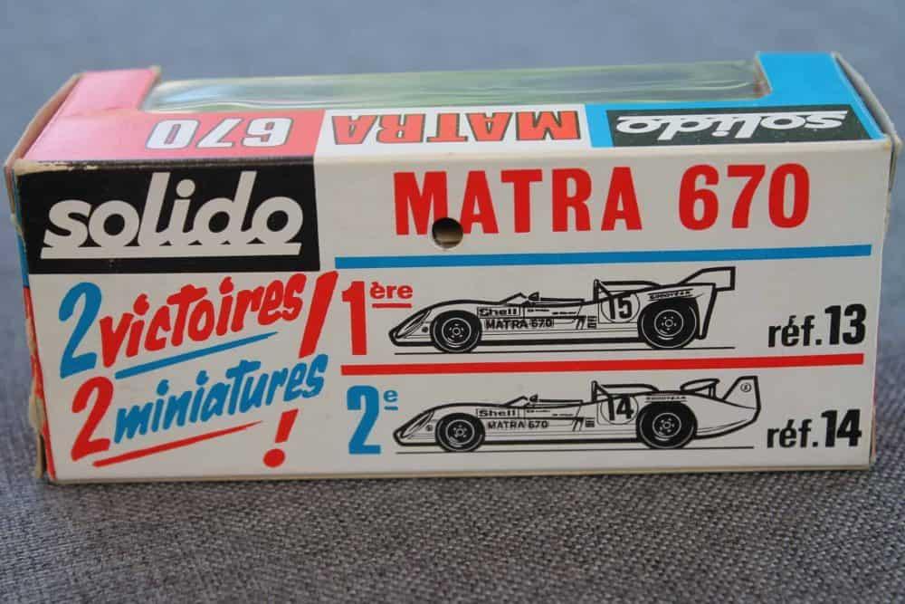 Solido Toys 014 Matra 670-boxback